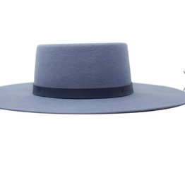 Olive & Pique Powder Blue Boater Hat