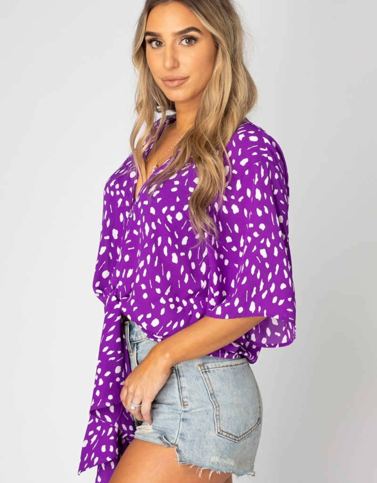 Muse Top - Violet Dots