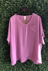 Trend:Notes Lilac- Oversized Vneck Top