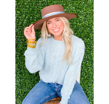 Soft Blue Textured Pullover