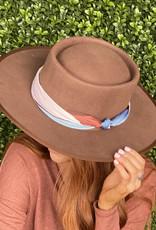 Olive & Pique CARSON HAT- COGNAC W/ SCARF