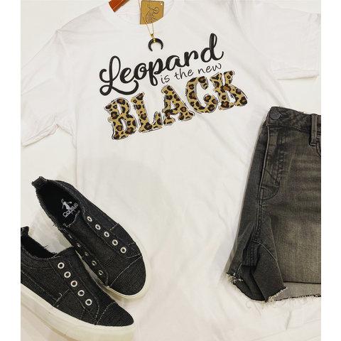 Leopard New Black Tee