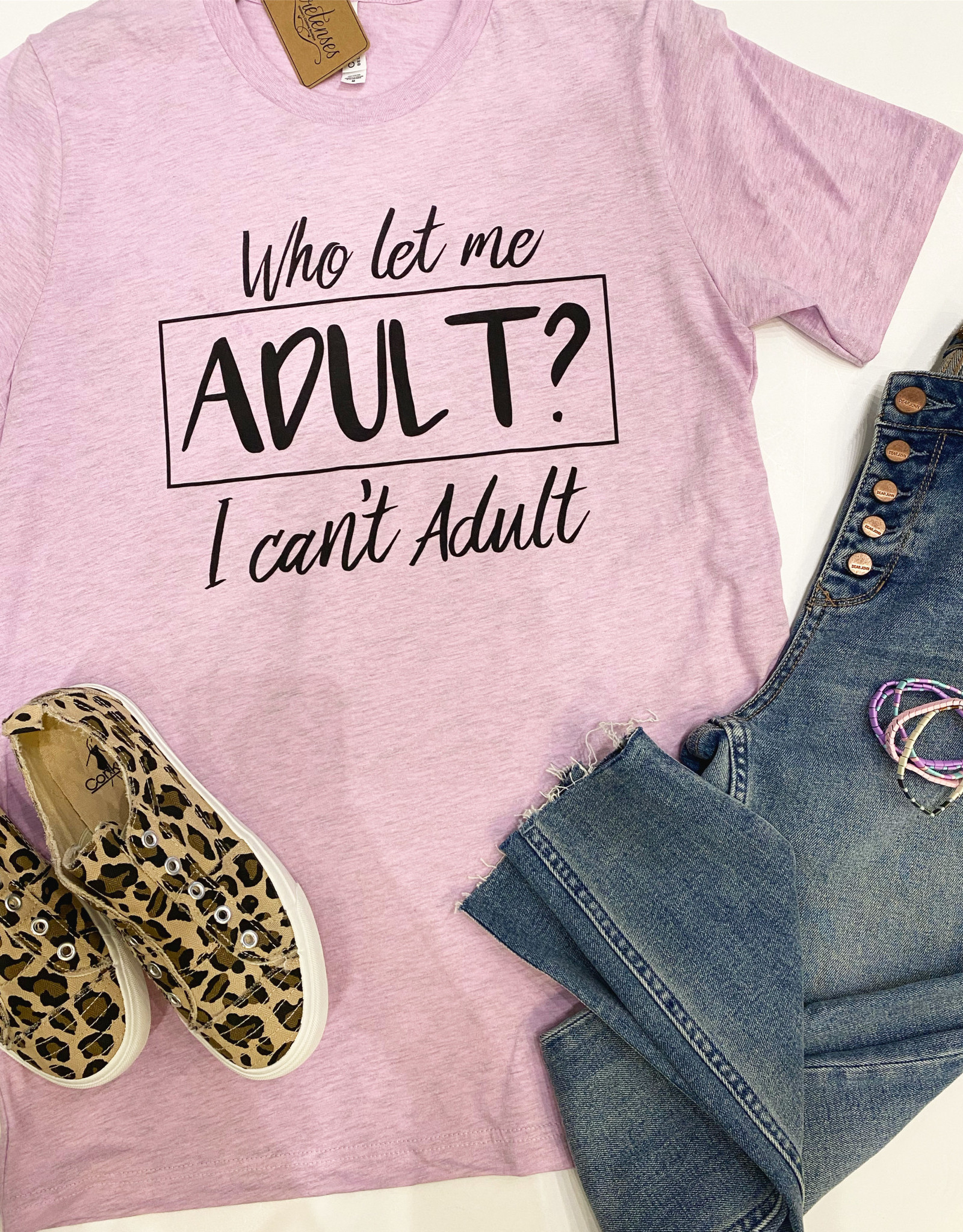 Anna Grace Tees Who Let Me Adult Tee