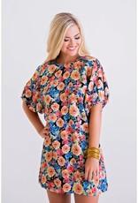 Karlie Multi Floral Puff Sleeve Dress
