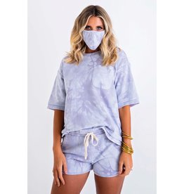 Karlie Tie Dye French Terry Pocket Set w/ MASK
