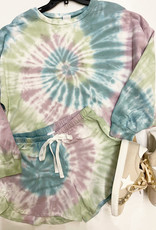 Project Social T TIE DYE SHORT JADE/PURPLE