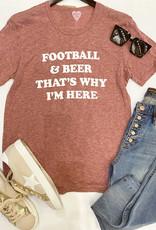Football And Beer Tee