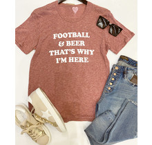 Football And Beer Tee