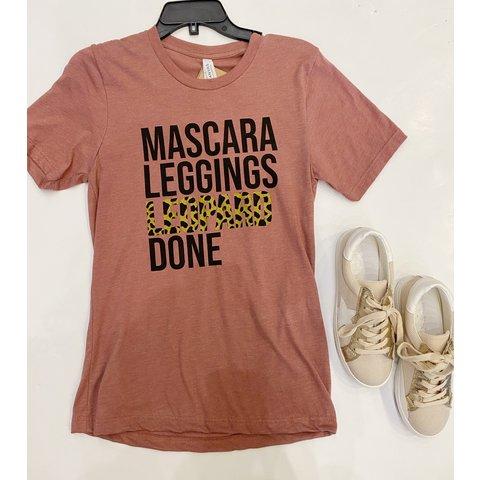 Mascara, leggings, leopard TEE