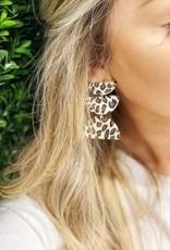 MICHELLE MCDOWELL Shea Leopard Earrings
