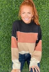 Black Caramel Tan Sweater