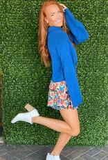 Sapphire Blue Turtleneck Sweater