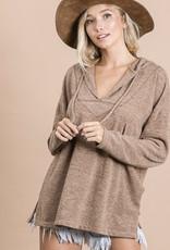 Bucketlist Camel soft jersey hoodie