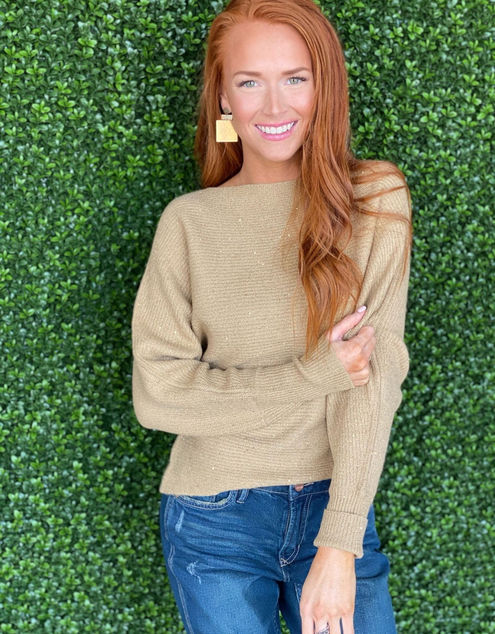 Gold Slouchy Sweater