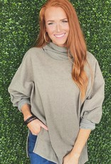 Cy Fashion Solid Tunic Turtle Neck