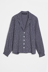 Wild Pony Jodie Grey Polka Dot Top
