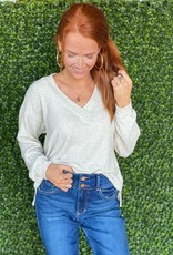 Project Social T Oatmeal Rib Cozy Top