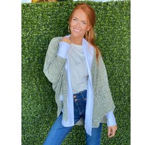 Green Multi Animal Print Cardi