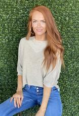 Jade Sand Batwing Sweater