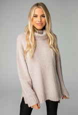 Karen Mocha Turtle Neck Sweater