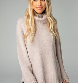Karen Mocha Turtle Neck Sweater
