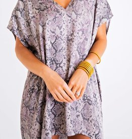Karlie Snake Vneck Signature Dress