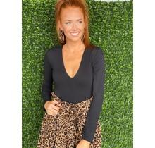 Tan/Black Leopard Belted Short