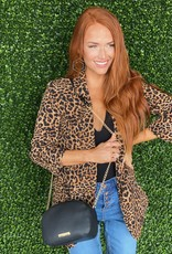 Tan/Black Leopard Blazer