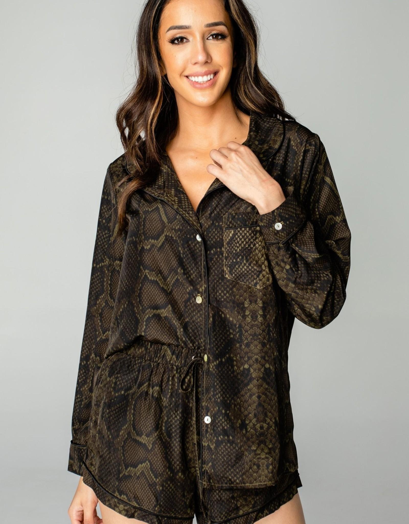 Anna Olive Snake Pajamas