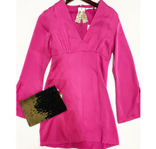 Fuchsia long sleeve dress