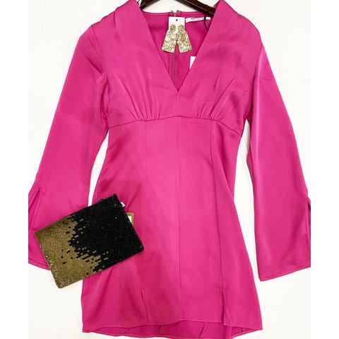 Fuchsia long sleeve dress