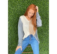 Charcoal Mix ColorBlock Sweater