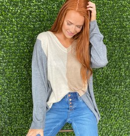 jodifl Charcoal Mix ColorBlock Sweater