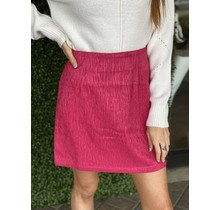 Hot Pink Textured Skirt