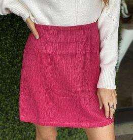 Glamorous Hot Pink Textured Skirt