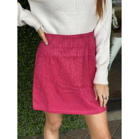 Hot Pink Textured Skirt
