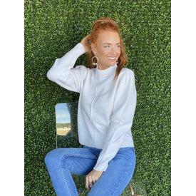 Winter White Knit Sweater
