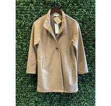 Camel Stand Collar Coat
