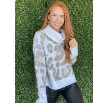Winter Mix Leopard Sweater