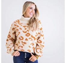 Pink/Camel Leopard Swater