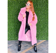 Pink long textured jacket