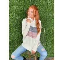 Mauve Colorblock Sweater