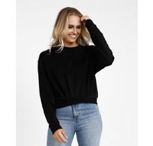 Black Lazy Daisy Sweater