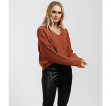 Heart of Stone Knit Sweater - Chestnut