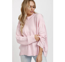 Lazy Sunday KNit Sweater- Pink