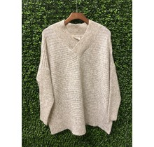 White Beach Knit Sweater