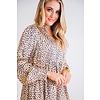Leopard Satin Tier Hi/Lo Dress