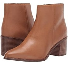Smooth Tan Leather Booties