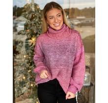 Mauve Boho Mix Sweater