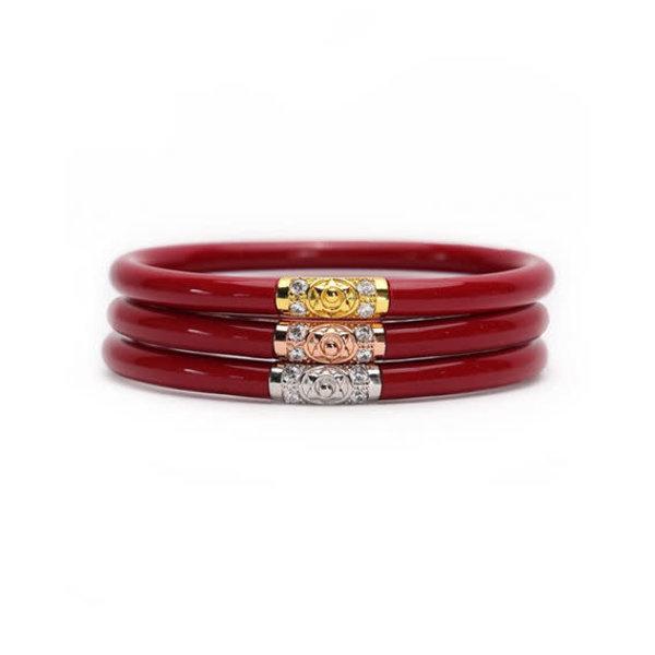 3 Kings All Weather Bracelet - Red-Medium